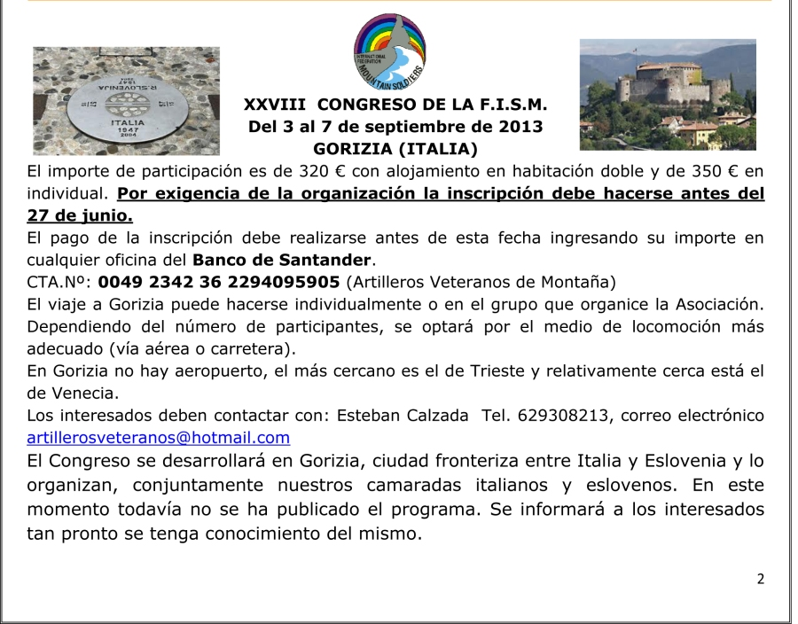 Circular ARTILLEROS-2-CONGRESO DE LA FISM