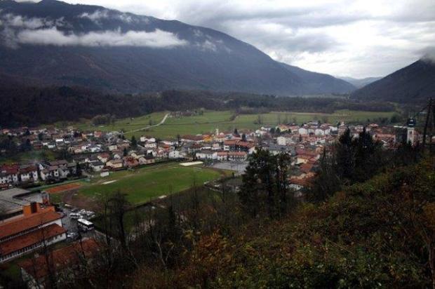 Vista de Kobarid