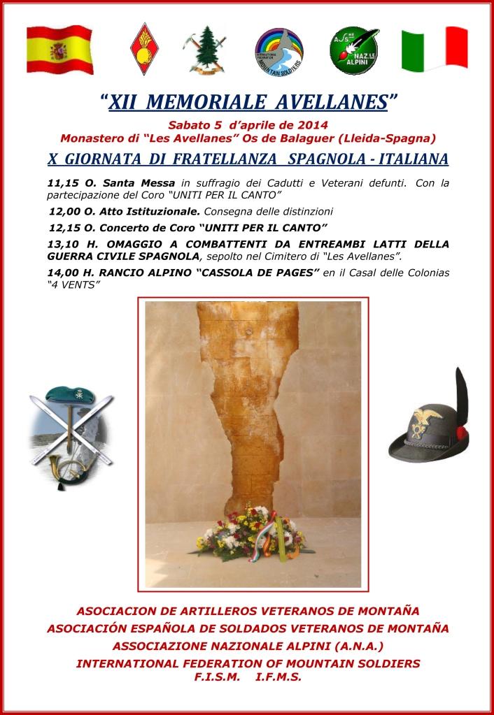XII MEMORIALE AVELLANES - Italiano Copy