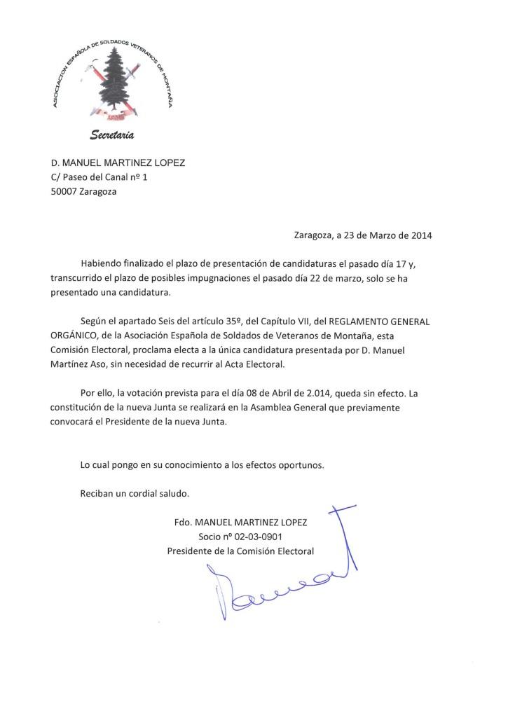 ACTA DE LA JUNTA ELECTORAL