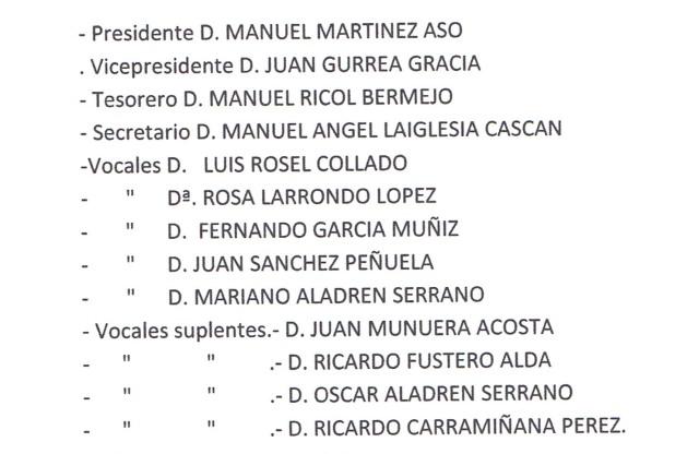 CANDIDATURA PARA LAS ELECCIONES DE 2014
