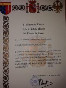 nombramiento de ANTONIO SIESO