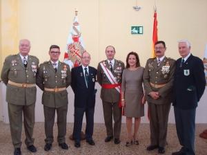 Tcol.De Antón, SuboficialMayor Viñuales, José Pla, Gral. Bayo con su esposa, Col. Luján y Angel León