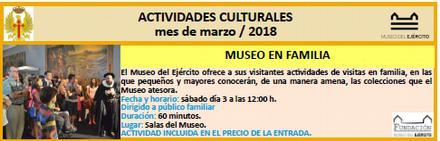 Museo Ejercito Actividades MAR18