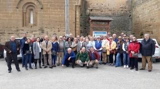 Fotografía de los asistentes a la visita cultural a Sigena