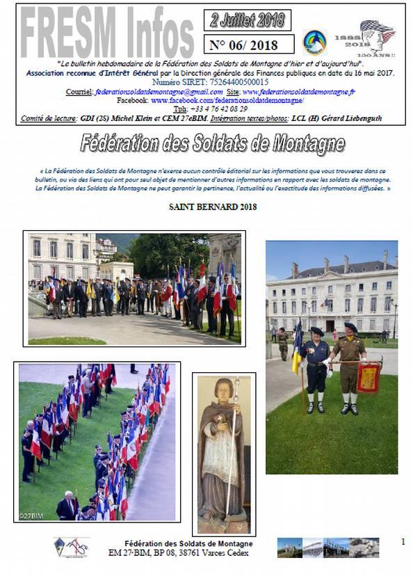 FRESM INFOS n°06 du 2 juillet 2018