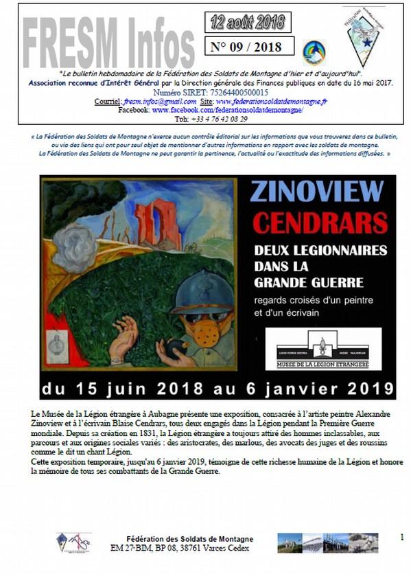 FRESM INFOS n°09 du 12 aout 2018